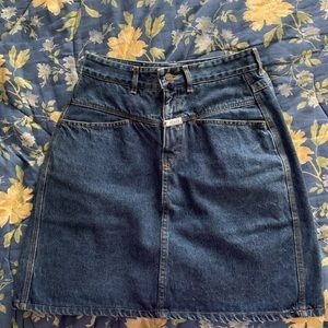 Vintage 80s Marithe Francois Girbaud Denim Skirt